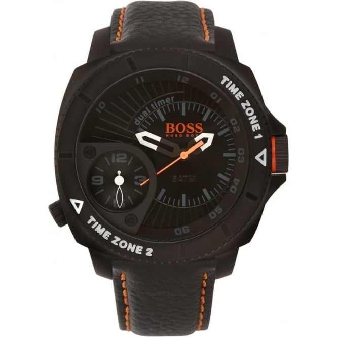Hugo Boss Orange 1513221 Black Leather Mens Watch