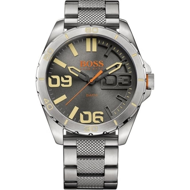 Hugo Boss Orange 1513317 Berlin Silver Stainless Steel Men's Watch