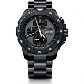 Victorinox Swiss Army 241573 Alpnach Black Stainless Steel & Orange Automatic Chronograph Watch