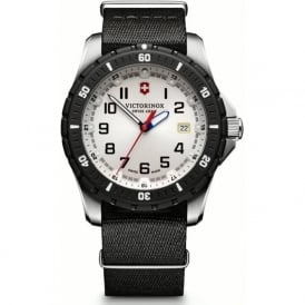 Victorinox Swiss Army 241676.1 Maverick Sport Black & White Nato Watch (Inc. Free Strap)