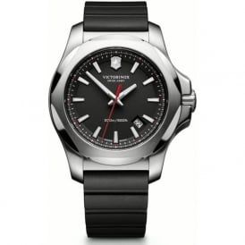 241682.1 I.N.O.X Black Rubber & Steel Swiss Watch