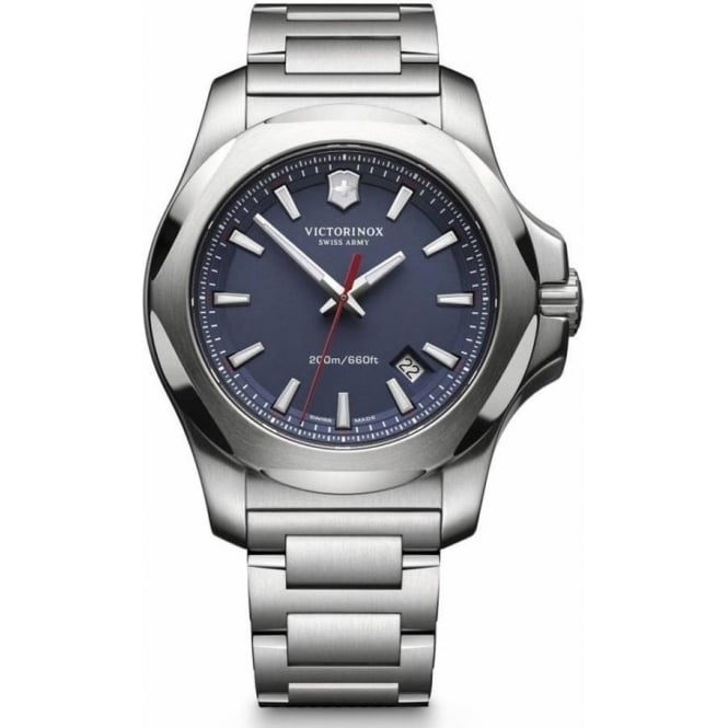 Victorinox Swiss Army 241724.1 I.N.O.X Blue Stainless Steel Swiss Watch