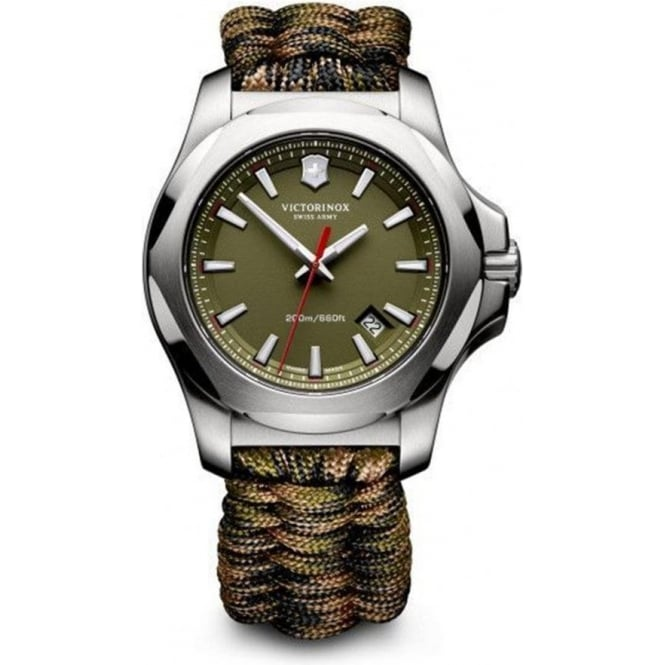 Victorinox Swiss Army 241727.1 Limited Edition I.N.O.X Green Naimakka Paracord Swiss Watch