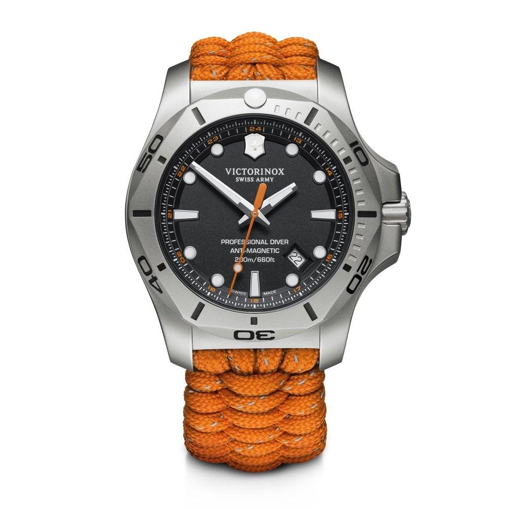 Victorinox Swiss Army 241845 I N O X Professional Diver Orange Paracord Strap Watch Set