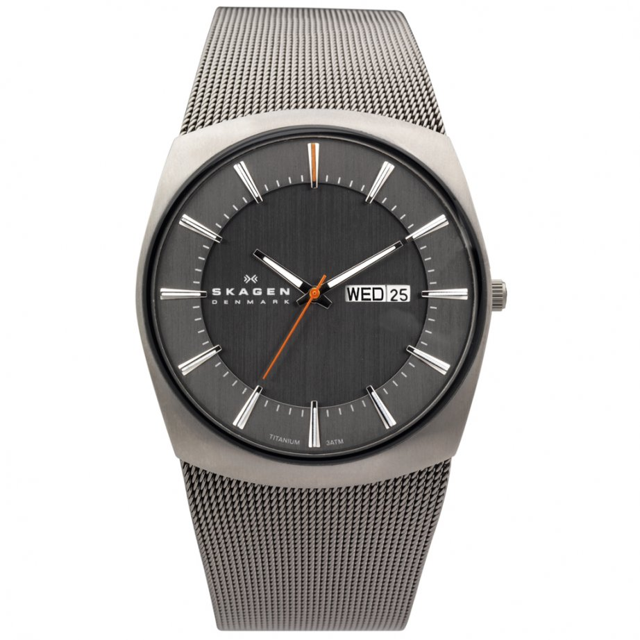 696xlttm grey titanium mens skagen watch for Titanium watches