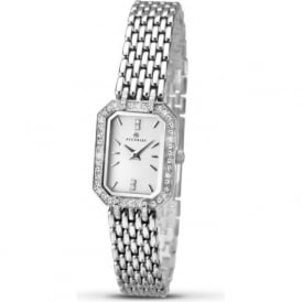 Accurist 8061 Classic Diamante & Stainless Steel Bracelet Ladies Watch