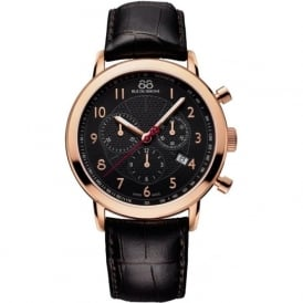 88 Rue Du Rhone 87WA120050 42mm Double 8 Origin Gents Rose Gold & Brown Leather Chronograph Watch - EX-DISPLAY