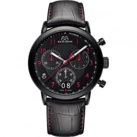 88 Rue Du Rhone 87WA130032 45mm Double 8 Origin Gents Red on Black Leather Chronograph Watch