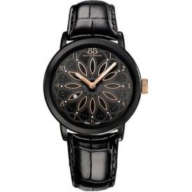 88 Rue Du Rhone 87WA143501 35mm Double 8 Origin Ladies Black & Rose Gold Leather Watch