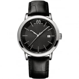 88 Rue Du Rhone 87WA130010 42mm Double 8 Origin Gents Black Leather Sapphire Watch