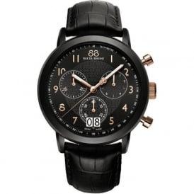 88 Rue Du Rhone 87WA130023 45mm Double 8 Origin Gents Rose Gold on Black Leather Chronograph Watch