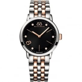 88 Rue Du Rhone 87WA140003 35mm Double 8 Origin Ladies Two Toned Black Diamond Watch