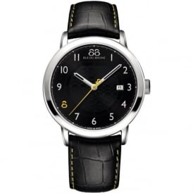 88 Rue Du Rhone 87WA140020 42mm Double 8 Origin Gents Black & Yellow Leather Watch