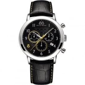 88 Rue Du Rhone 87WA140028 42mm Double 8 Origin Gents Yellow & Black Leather Chronograph Watch