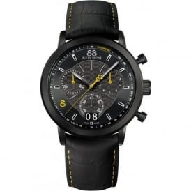 88 Rue Du Rhone 87WA144503 45mm Double 8 Origin Gents Yellow on Black Leather Chronograph Watch