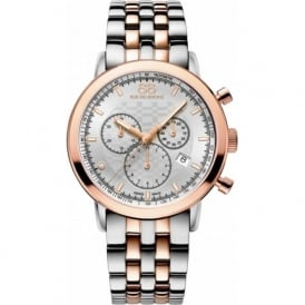 88 Rue Du Rhone 87WA154204 42mm Double 8 Origin Gents Rose Gold & Silver Chronograph Watch