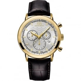 88 Rue Du Rhone 87WA154206 42mm Double 8 Origin Gents Yellow Gold & Brown Leather Chronograph Watch
