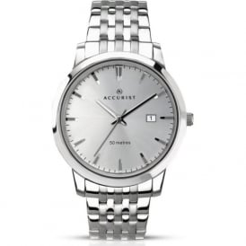 Accurist 7056 Silver Stainless Steel Linked Men's Watch