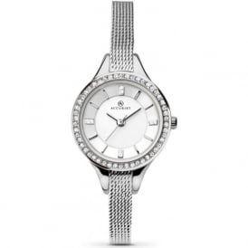 Accurist 8008 Crystal Dial & Silver Slim Stainless Steel Watch
