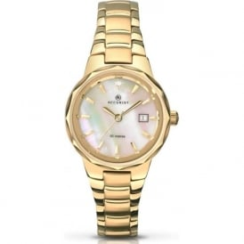 Accurist 8019 Gold Plated Stainless Steel Ladies Watch