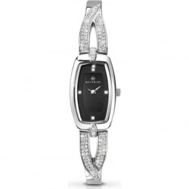 Accurist 8031 Crystal & Silver Stainless Steel Ladies Slim Watch