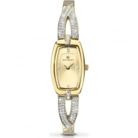 Accurist 8032 Crystal & Gold Plated Stainless Steel Ladies Slim Watch