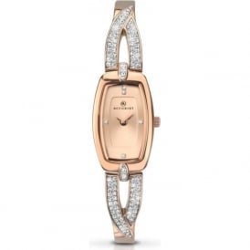 Accurist 8033 Crystals& Rose Gold Slim Stainless Steel Ladies Watch