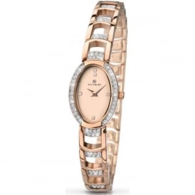 Accurist 8037 Crystal & Rose Gold Plated Ladies Watch
