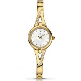 Accurist 8039 Crystal & Gold Stainless Steel Ladies Strap