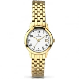 Accurist 8046 Gold Plated Stainless Steel Ladies Watch