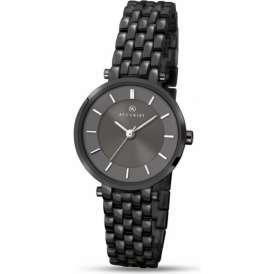 Accurist 8089 Classic Black IP Stainless Steel Ladies Watch