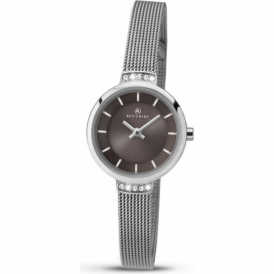 Accurist 8090 Grey & Stainless Steel Mesh Ladies Dress Watch