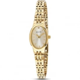 Accurist LB1336G Gold Plated Stainless Steel Ladies Watch