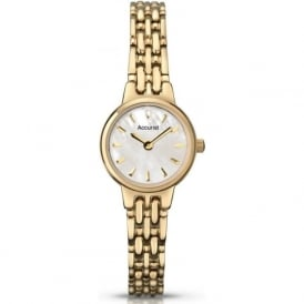 Accurist LB1405P Gold Plated Slim Ladies Watch