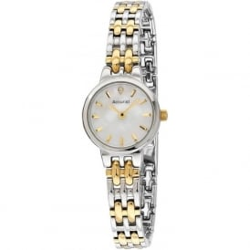 Accurist LB1406 Slim Gold & Silver Stainless Steel Ladies Watch