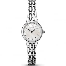 Accurist LB1407P Mother of Pearl Stainless Steel Slim Ladies Watch