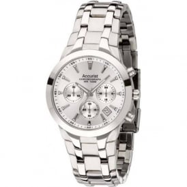 MB1060S Accurist Silver Stainless Steel Chronograph Men's Watch