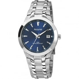 Accurist MB860N Blue Dial Stainless Steel Men's Watch