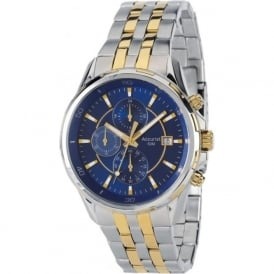 Accurist MB934N Blue & Two Tone Stainless Steel Chronograph Men's Watch