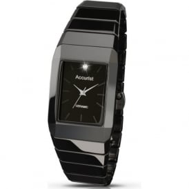 Accurist MB952 Black Stainless Steel Bracelet Men's Watch