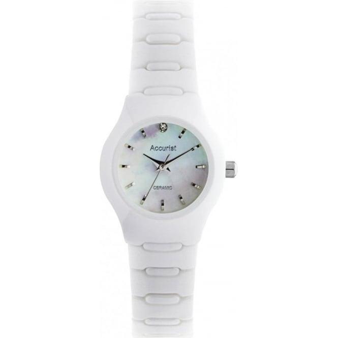 Accurist Watches Ceramic White Ladies Watch LB1671W
