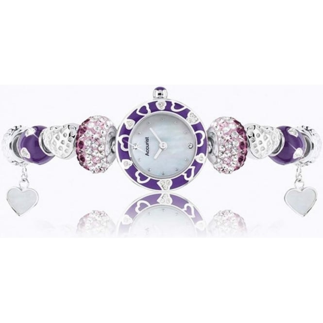 Accurist Charmed Silver Ladies Watch LB1465V