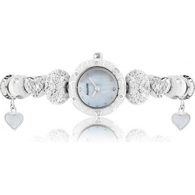 Accurist Charmed Silver Ladies Watch LB1465W