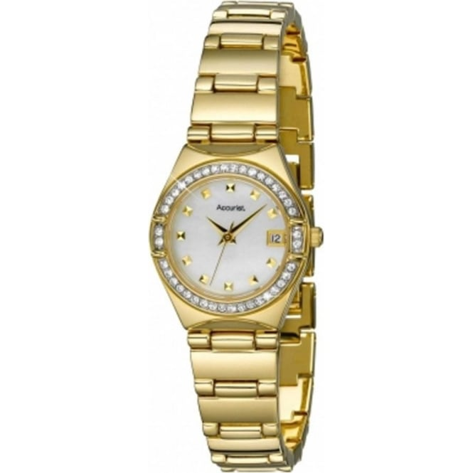 Accurist Watches Stainless Gold Womens Watch LB1660P