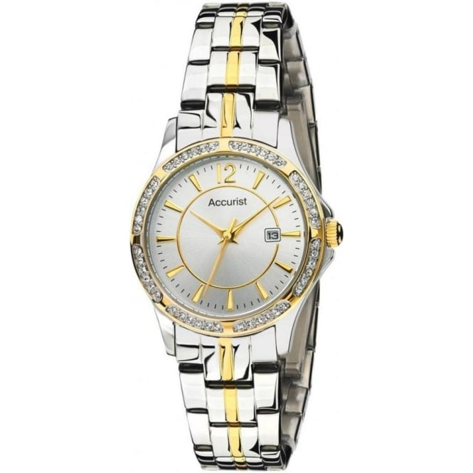 Accurist Watches Stainless Silver Womens Watch LB1536S