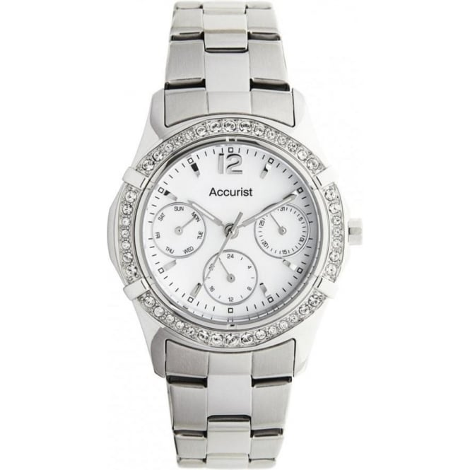 Accurist Stainless Silver Womens Chronograph Watch LB1640P