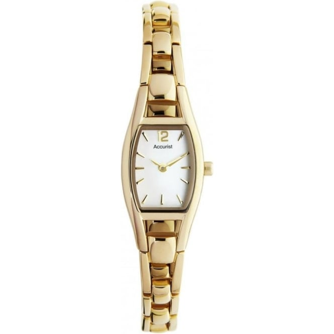 Accurist Watches Ladies Gold Tone Watch LB1036P
