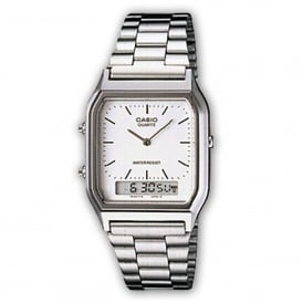 Casio Watches AQ-230A-7DMQYES Men's Stainless Steel Classic Casio Watch
