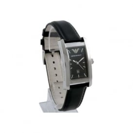 Armani Watches AR0121 Black Leather Mens Designer Watch