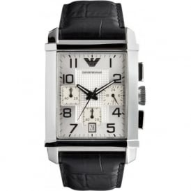Armani Watches AR0333 Gents Black Leather Watch